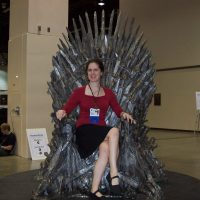 Shanna on the Iron Throne